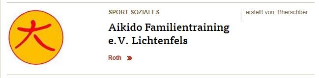 Aikido-Familientraining auf der Gemeindeseite des FT